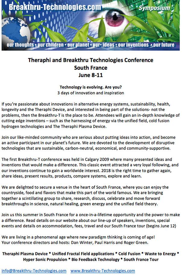 Breakthru-Technologies and FractalField com 2018 CONFERENCE